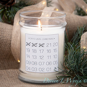 Countdown holiday candle_898-2