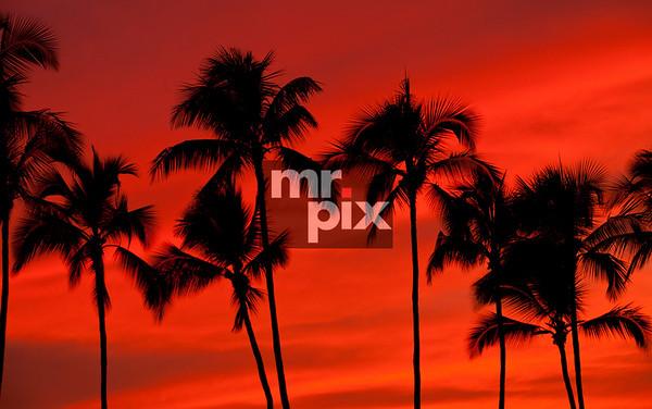 Hawaiian Sunset on The Big Island, Kona HI