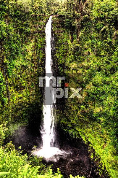 Water fall on the big Island, Hawaii