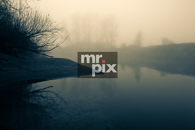 Foggy Valley, Trees and Snoqualmie River