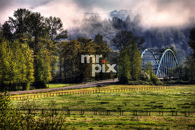 Lifting Fog over the 124th Bridge - Landscapes by Michael Moore | MrPix.com