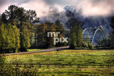 Lifting Fog over the 124th Bridge - Landscapes by Michael Moore | MrPix.com