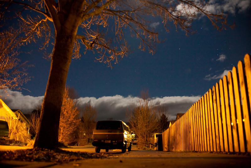 Crispin Street (Ashland, OR) at night