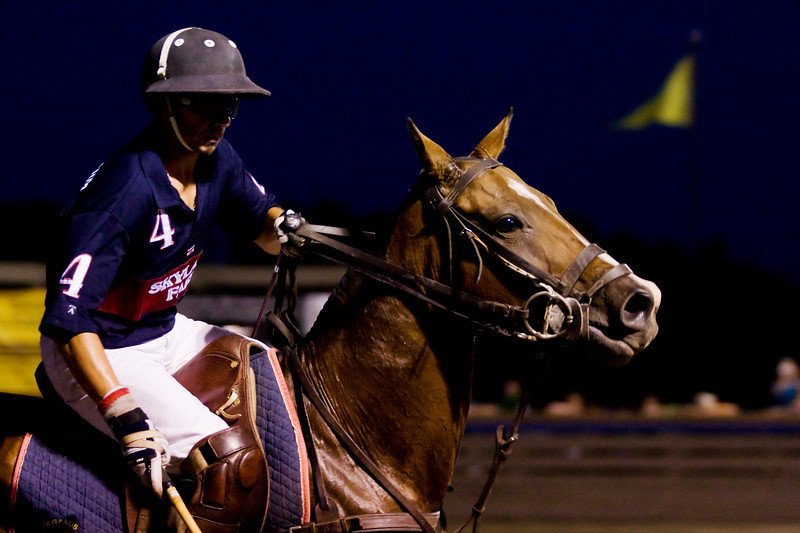Equestrian Photography in Virginia - Great Meadow - twilight polo
