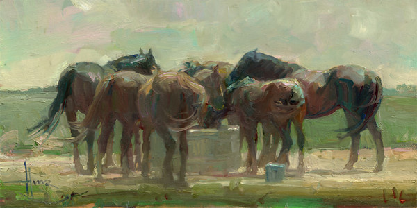 Salt Lick 7x14<br /> PRIVATE COLLECTION