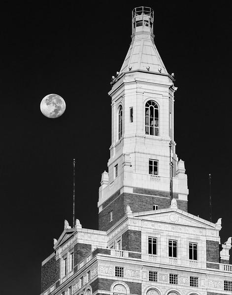 Equinox Moon with Tulsa Art Deco