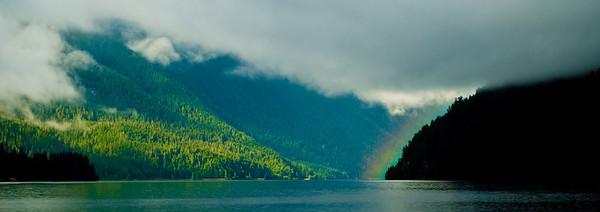 Lake Crescent Rainbow, Washington