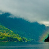 Lake Crescent Rainbow, Washington