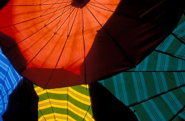Umbrellas, Mae Hong Son, Thailand
