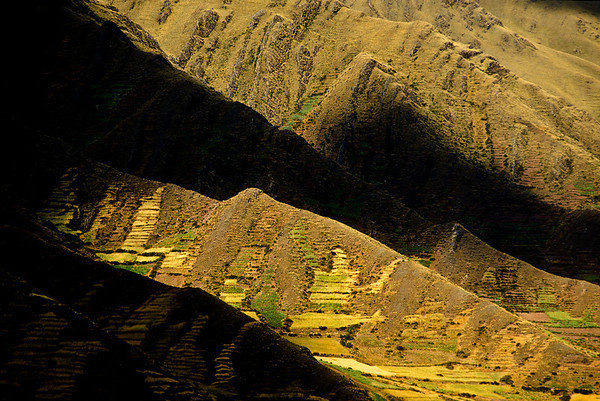 Inca Terracing, Urabamba Valley, Peru