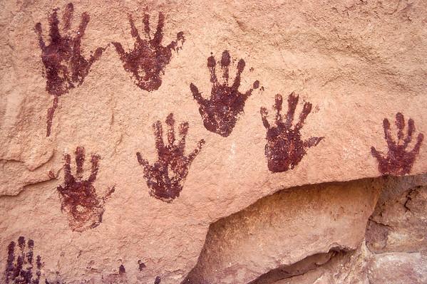 Ancient Hands On Rock, Grand Gulch, Utah