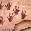 Ancient Hands On Rock, Grand Gulch, Utah