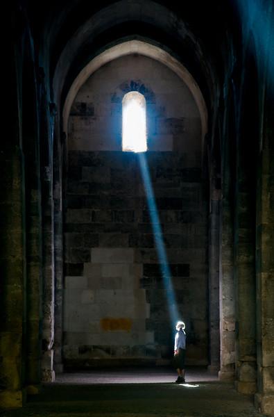 Heather in Light, Sultanhani Kervansray, Turkey.
