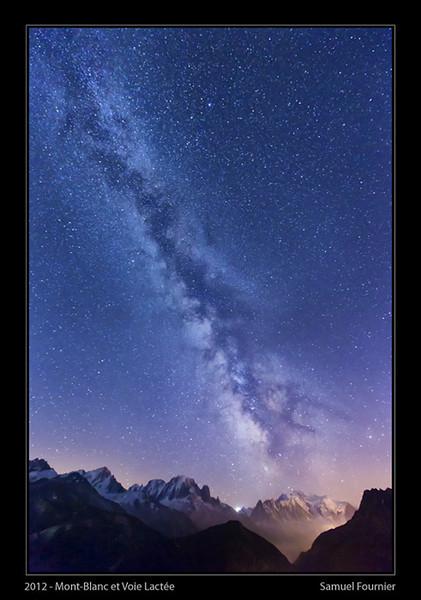 Mont Blanc et Voie Lactée - France - Août 2012