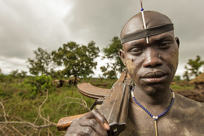 The Mursi Warrior (Omo Valley, Ethiopia)