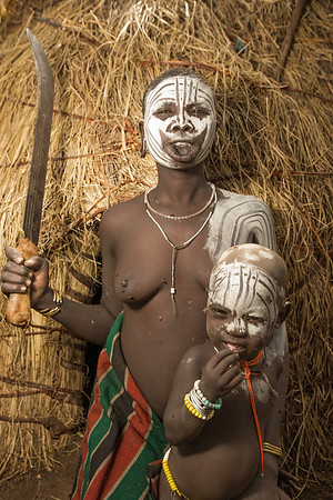 The Mursi Mother (Omo Valley, Ethiopia)