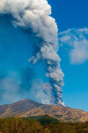 Volcano Etna eruption, Sicily