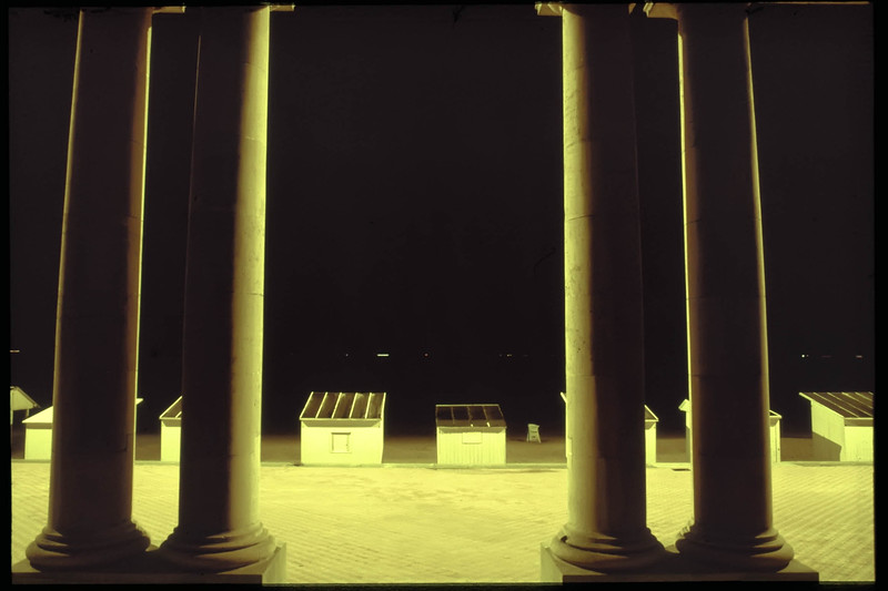 Oostende by night. Belgium 1983. Original Fine Art Documentary Photograph by Michel Botman and Dominique Bataille ©