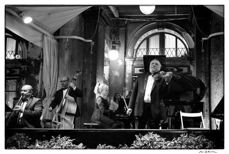 Classical concert, Place St. Marc. Venice.  Italy, 2015. © Michel Botman Photography
