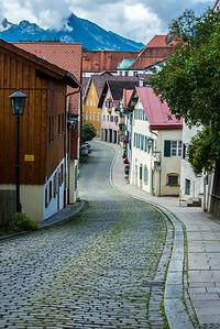 Medieval Cobblestone Street - Fussen - Germany