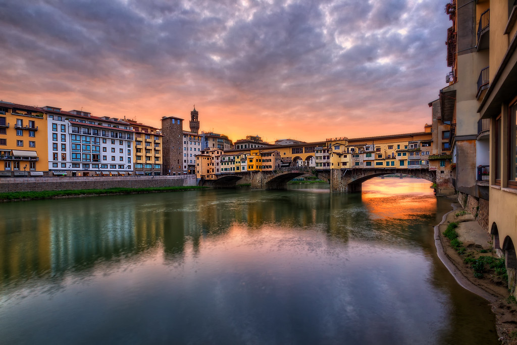 Ponte Vecchio Bridge at Sunrise (Florence, Italy)