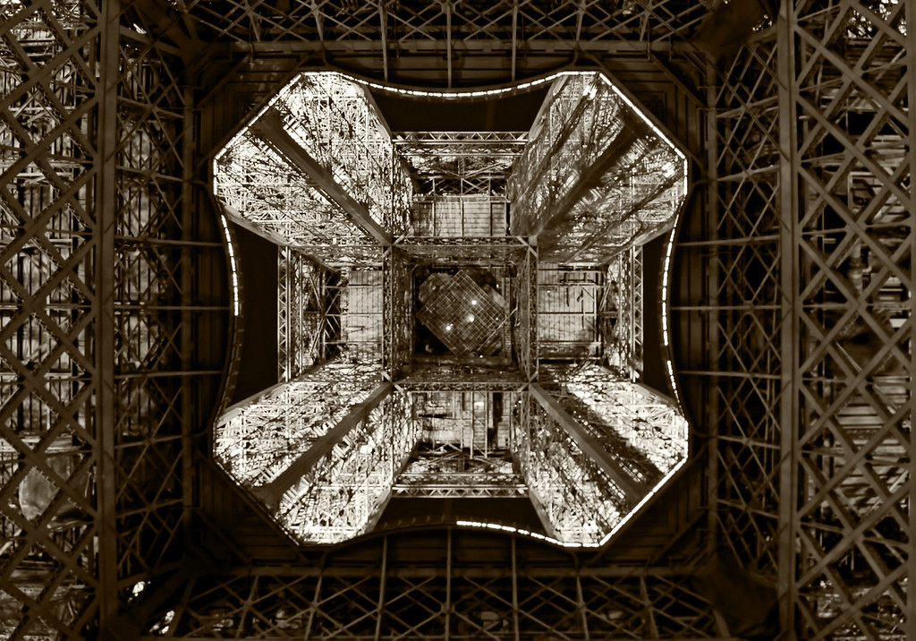 Standing underneath the Eiffel Tower - how I miss this view!