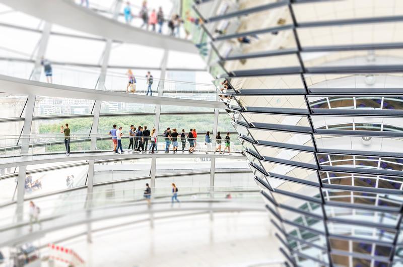 The Reichstag walkway -Berlin, Germany