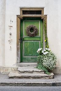 Rustic Wooden Village Door - Austria