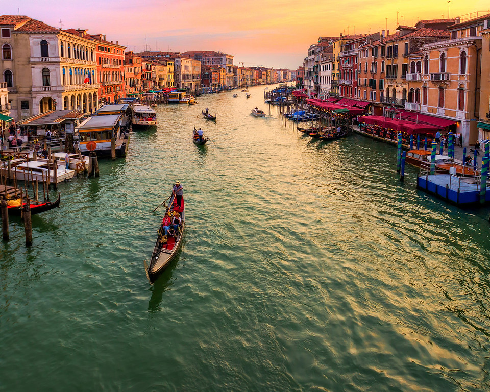 The Grand Canal at Sunset (Venice, Italy)