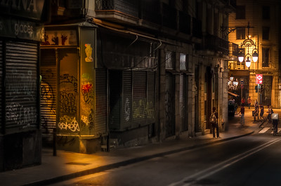 Barcelona Night Scene