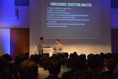 James Ward and Matt Raible speaking at Devoxx Paris, France 2013