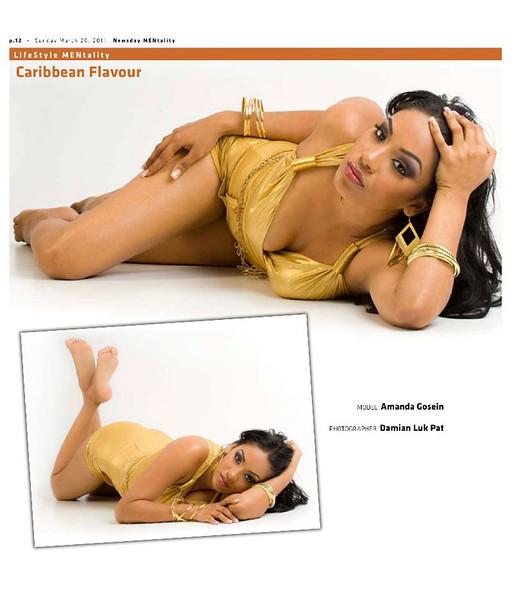 Newsday Mentality Issue 36 - Centerfold <br /> Model Amanda Gosein