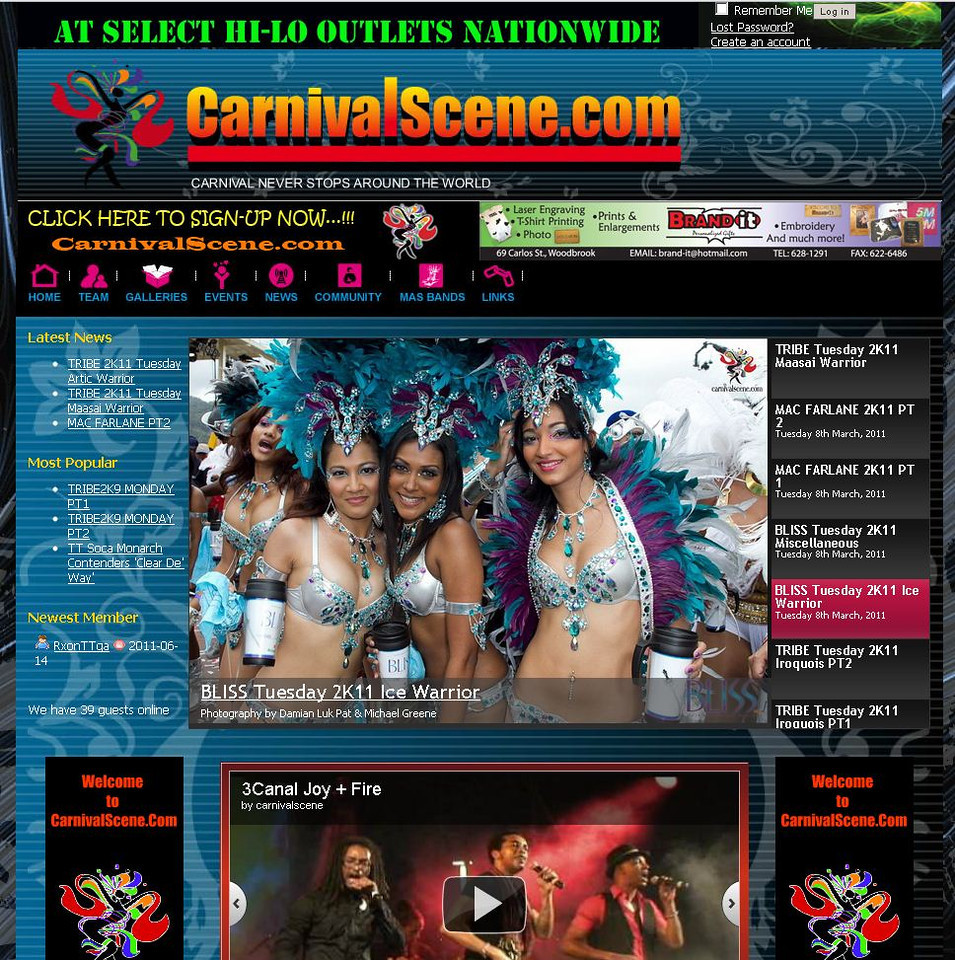One of the Official Photographer for CarnivalScene.com for the Tribe Magazine and Carnivalscene.com website - Covered the Carnival Band Bliss 2011 and the Tribe Ignite Party 2011.