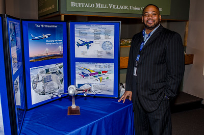 Boeing display at science Fair