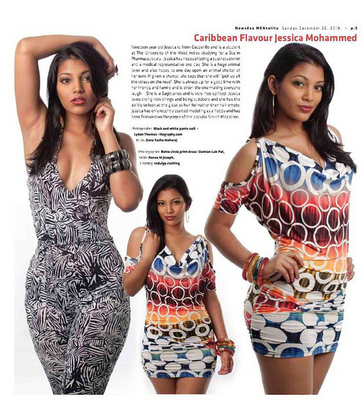 Issue 25 - Newsday MENtality Collector's Edition<br /> Photographer: Damian Luk Pat<br /> Model: Jessica Mohammed<br /> MUA: Renee Milford<br /> Clothing & Accessories: Indulge Clothing