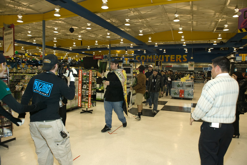 World of Warcraft - The Burning Crusade release event, Fry's Anaheim.