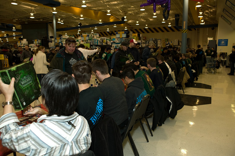 World of Warcraft - The Burning Crusade release event, Fry's Anaheim.<br /> Development and art staff on hand to sign boxes