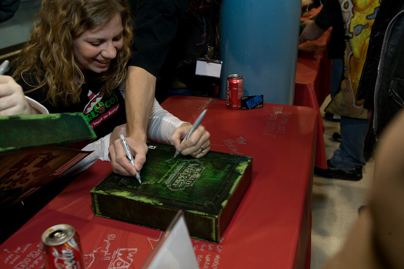 World of Warcraft - The Burning Crusade release event, Fry's Anaheim.<br /> First box signed.