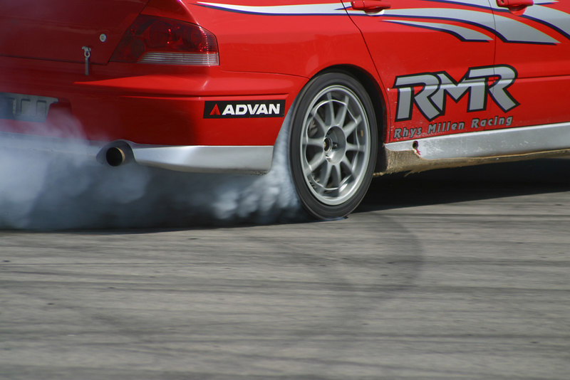 Trackside at the first D1GP, Irwindale Speedway