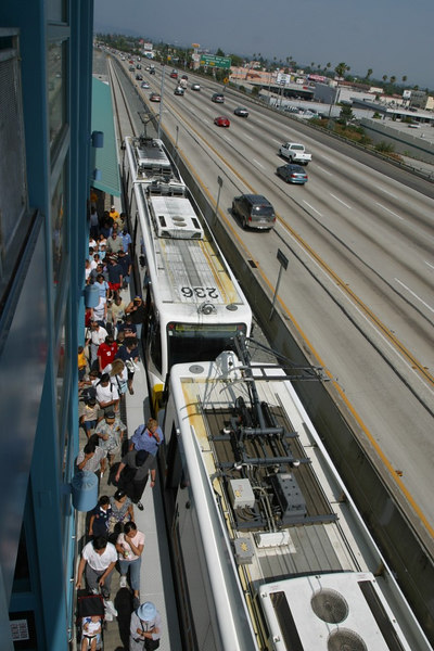 MTA Gold Line opening day, Pasadena