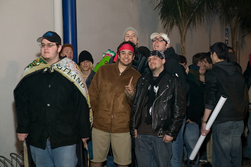 World of Warcraft - The Burning Crusade release event, Fry's Anaheim.<br /> First guys in line.