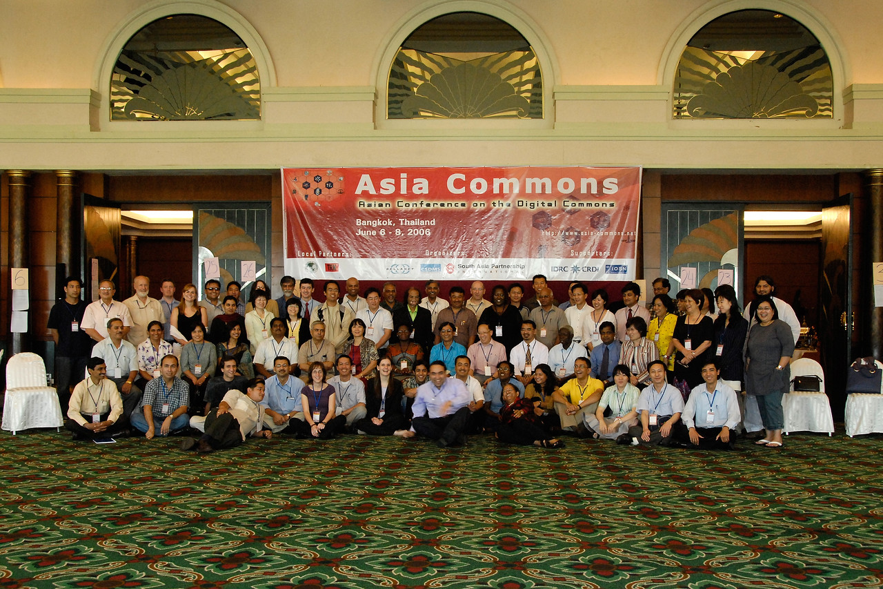 Group shot by Suchit Nanda of all the participants at Asia Commons, Bangkok. Timer shot on tripod so I barely made it in the shot as can be seen by the motion blur. :)
