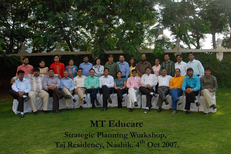 MT Educare Stategic Planning Workshop at Taj Residency, Nashik on 4th Oct 2007.