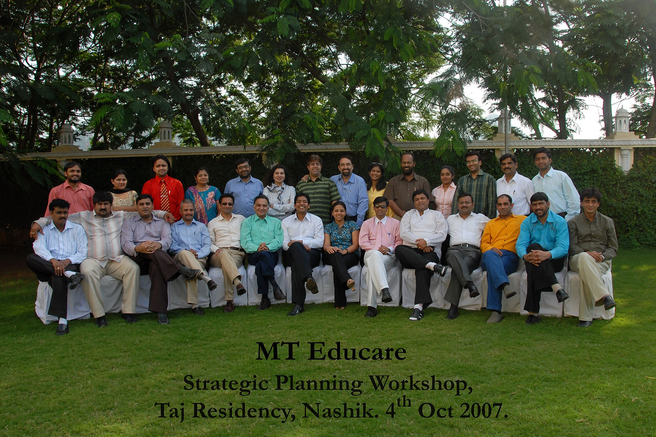 MT Educare Stategic Planning Workshop at Taj Residency, Nashik on 4th Oct 2007.
