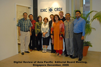 Editorial Board Meeting of Digital Review of Asia Pacific at IDRC's Chinatown office in Singapore.