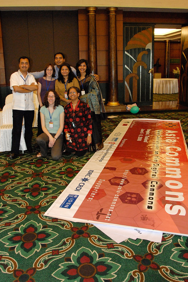 The hard working team that put together the Asia Commons - Asian Conference on the Digital Commons, June 6-8, 2006, Bangkok, Thailand.