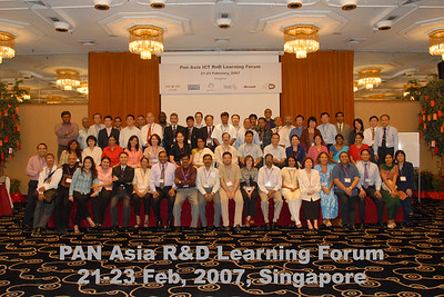 PAN Asia R&D Learning Forum organized by AMIC and held on 21-23rd February, 2007 in Singapore. Supported by IDRC, APDIP, APNIC, Internet Soceity (ISOC), Microsoft and AMIC