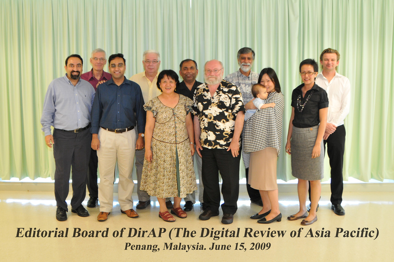 "Group Picture of Editorial Board of DirAP. Thank you Dr. Sarmad for taking this picture.<br /> <br /> Editorial Board Meeting (Ed Board) of Digital Review of Asia Pacific 2009-2010 (DirAP) at WOU (Wawasan Open University) held along with IDRC's PAN ALL 2009 CONFERENCE, Penang, Malaysia. 15-16th June, 2009. See  <a href=""http://www.digital-review.com/"">http://www.digital-review.com/</a>"