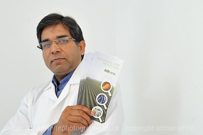 SWANSEA / Richard Youle Wednesday 15th July 2015 Dr Ansari, lecturer at Swansea University's Institute of Life Sciences and managing director of Bionema Ltd, a leading biopesticide product testing and development organisation.