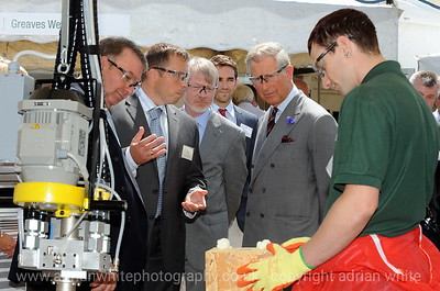 HRH Prince Charles visits Coed Darcy